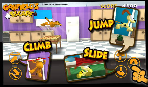 get free Android game Garfield's Escape today 1