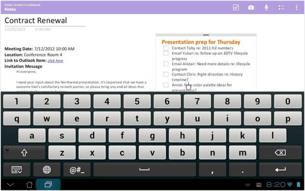 Microsoft OneNote is a FREE app for Android 2