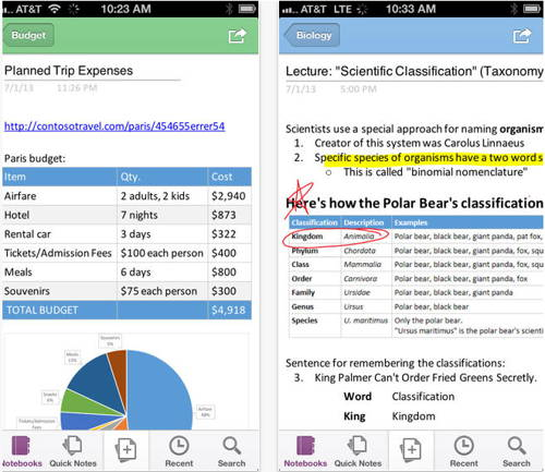 Microsoft OneNote is a free app for iPhone 1