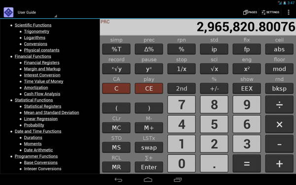 get free paid Android app - NeoCal Advanced Calculator 2
