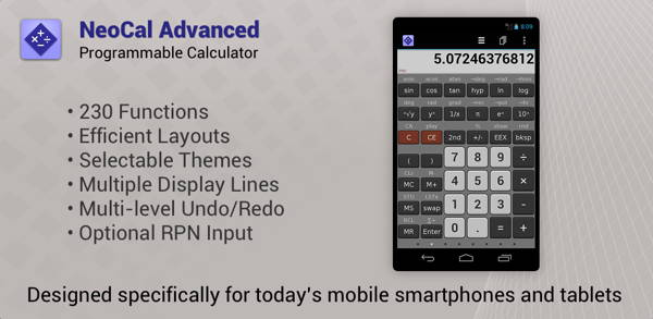 get free paid Android app - NeoCal Advanced Calculator
