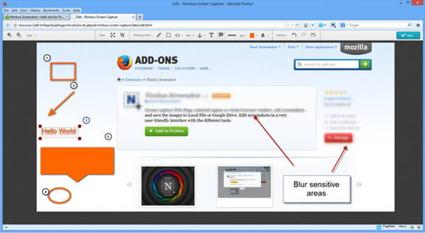 Nimbus Screen Capture is a Screen Recorder Extension for Firefox