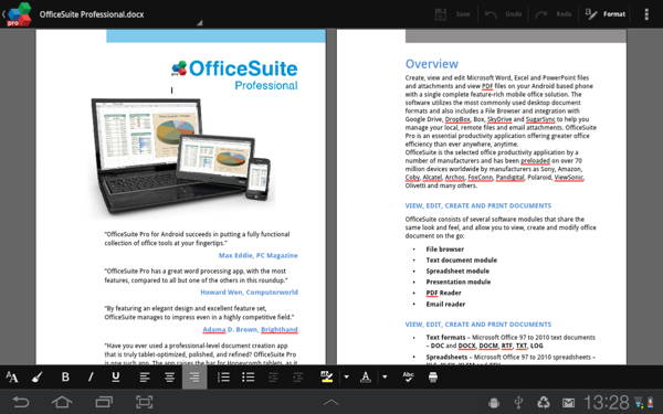 free paid Android app - OfficeSuite Professional 7 2