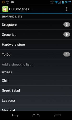 Our Groceries Shopping List is a free shopping list app for Android
