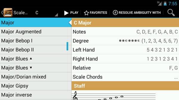 Download free piano for mobile: Piano Companion 3