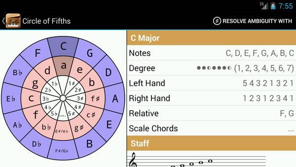 Download free piano for mobile: Piano Companion 4