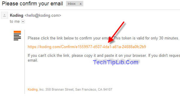 confirm your email to get FREE 4GB VPS hosting from Koding 2