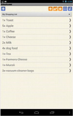 Shopping Grocery List is a Free shopping list app for Android