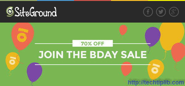 Discount 70% Off Web Hosting Plans from SiteGround