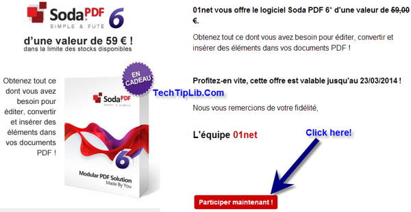Access the giveaway page of pdf tool-Soda PDF 6 Modular PDF Solution