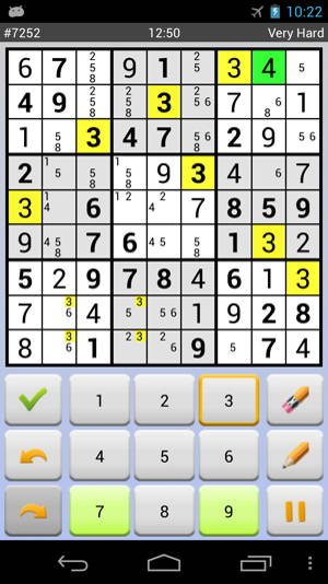 Download free sudoku game for Android: Sudoku 10'000 Plus 3