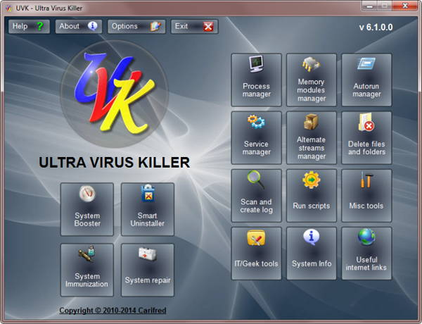 UVK Ultra Virus Killer - UVK Ultra Virus Kille is a powerful security tool which including: malicious software remove tool and Windows repair tool