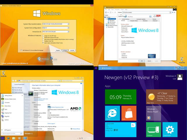 Download FREE Windows 8 Transformation UX Pack 8.0 - major Windows 8.1 updates