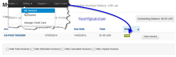 Check your invoice again to view your status of payment