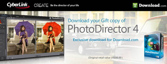 free license key of photo tool-license key of photo tool: PhotoDirector 4 Ultra-from cyberlink-downloadcom-giveaway