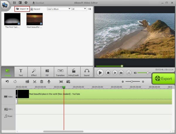 Giveaway of iskysoft-video-editor