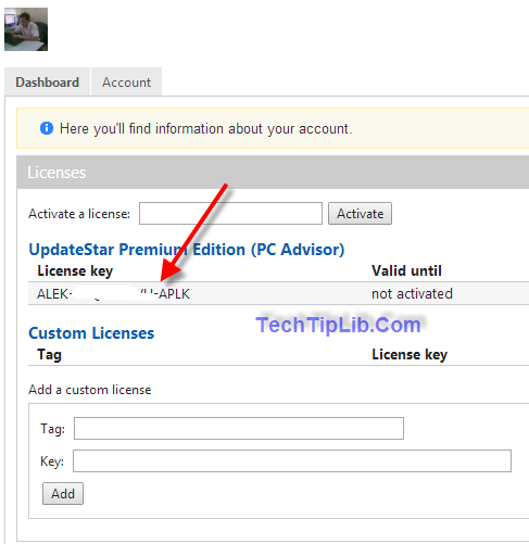 get 6 months license key in account UpdateStar Premium Edition