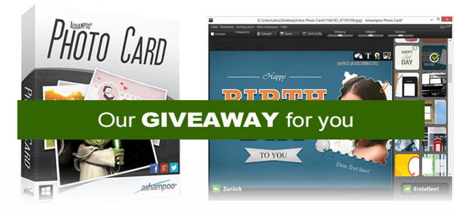 Enter the giveaway of photo tool -Ashampoo Photo Card-downloadmix