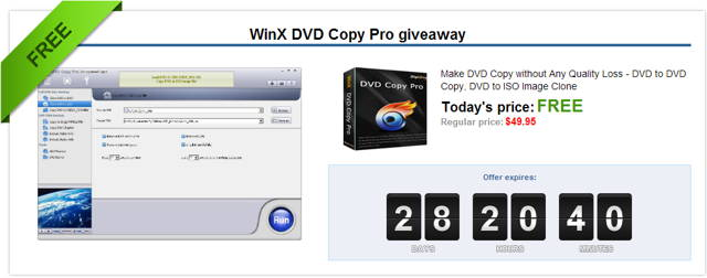 WinX DVD Copy Pro is specially designed to meet users' up-to-date DVD backup demand: clone DVD to DVD disc for safe storage