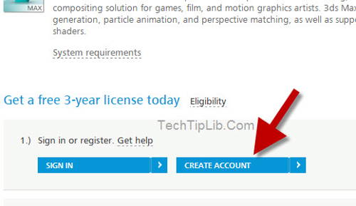 Create account and get FREE 3ds max