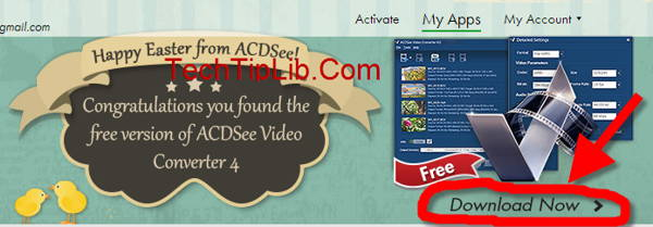click download button in account Acdsee Video Converter 4.1