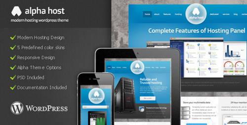 Alpha-technology responsive wordpress theme