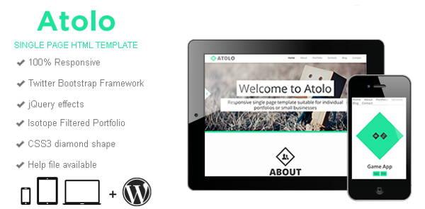 Atolo – Responsive HTML Template Highlights