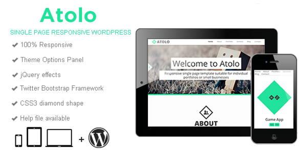 Atolo – Responsive WordPress Theme Highlights