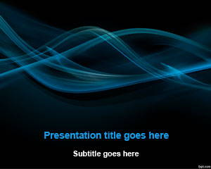 Black Smoke Abstract PowerPoint Template is FREE for downloading