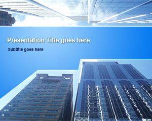 Business Skyscrapers PowerPoint Template is FREE for downloading