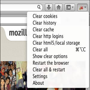 Firefox extension: Clear Console - Keep Your Browser Always Clean 1