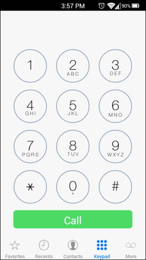 Get IOS styled Dialer for Android 1