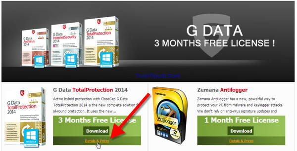 Enter the giveaway page-Giveaway of G Data TotalProtection 2014 -april-1
