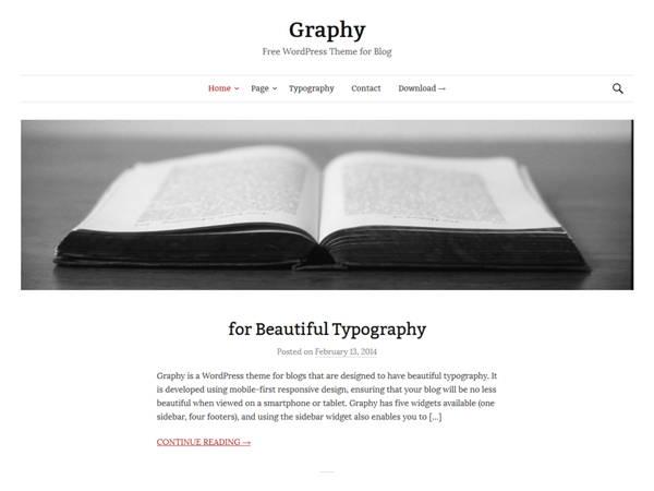 Graphy-5 Free WordPress Theme for April 2014