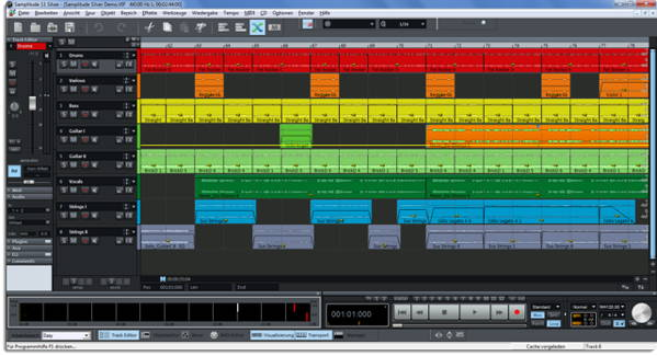 The screenshot of Magix Samplitude Pro X Silver