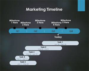 Marketing PowerPoint Timeline is FREE for downloading