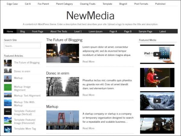 NewMedia- 5 Free WordPress Theme for April 2014