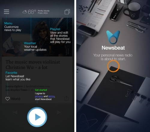 News Reader App for android That Reads Out News To You - Newsbeat 1