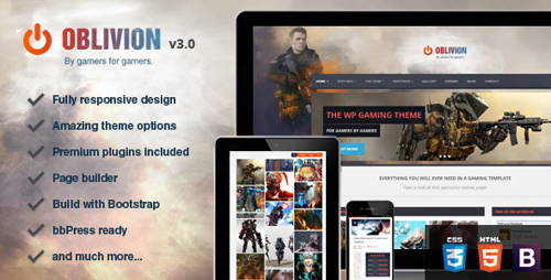 Oblivion-technology responsive wordpress theme