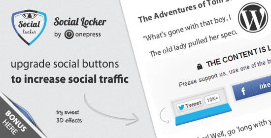 Social Locker for WordPress (Pro Version) - 10 Best paid Content Locker plugins for WordPress