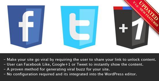 Viral Lock - 10 Best paid Content Locker plugins for WordPress