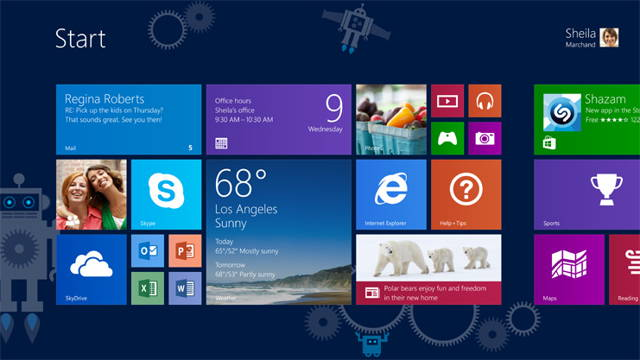 The screenshot of Windows 8.1