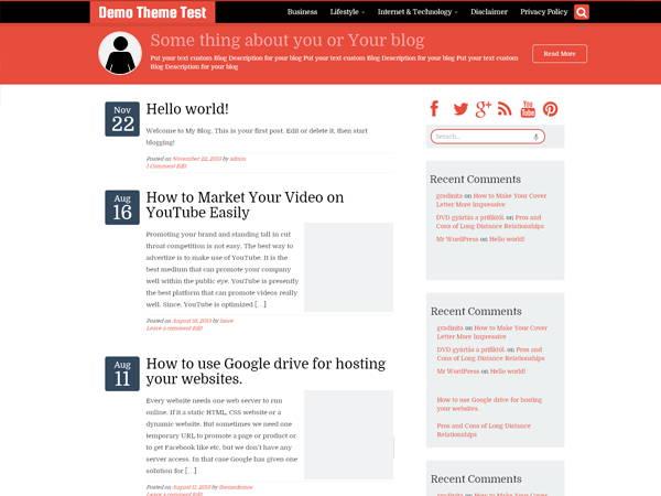 WriterStrap-5 Free WordPress Theme for April 2014