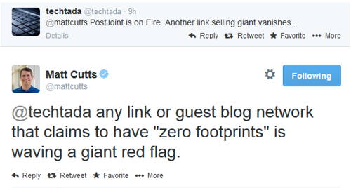 PostJoint & MyBlogguest officially penalized by Google!