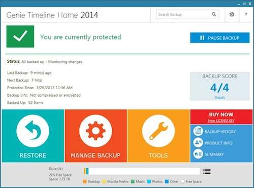 Giveaway of Genie Timeline Home 2014