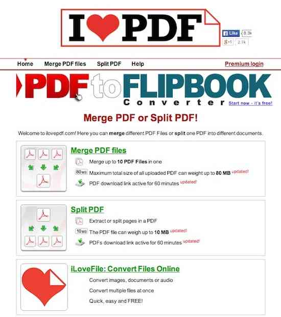 ILOVEPDF Merge & Split PDF for Chrome