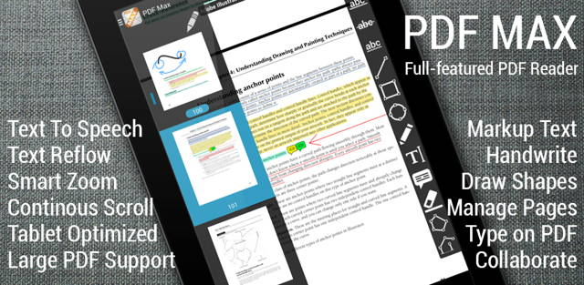 Giveaway of PDF Max - The PDF Expert for Android (Save $7.00)