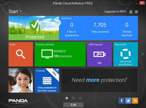 Download Panda Cloud Antivirus 3.0