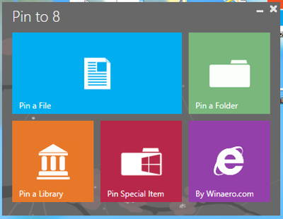 Pin any type of File or Folder to Windows 8 Start Screen with Pin to 8