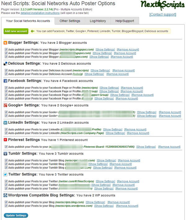 Social Networks Auto-Poster - 3 Free Plugin Automatically Posting To Social Network